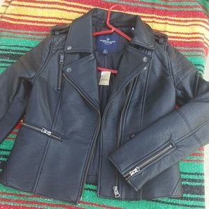 fuax leather jacket